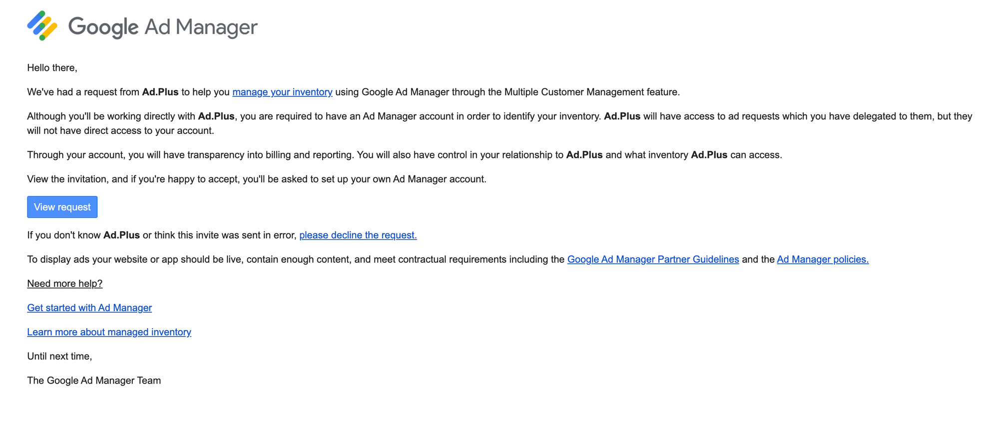 What is Google Ad Manager/AdX MCM (Multiple Customer Management) Program?